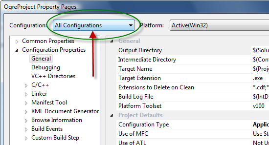 Setting Up An Application - Visual Studio | Ogre Wiki