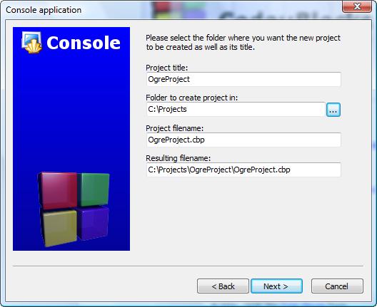 Setting Up An Application - CodeBlocks | Ogre Wiki