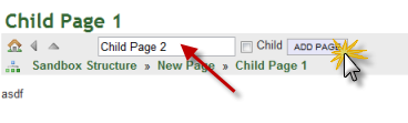 Add Another Child Page