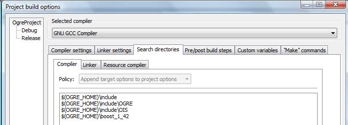 Setting Up An Application - CodeBlocks   Ogre Wiki