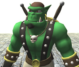 "Picture of the Ogre mascott ""Sinbad"""