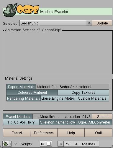 Blender Exporter | Ogre Wiki