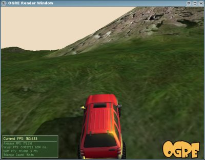 A Jeep driving in the Landscape Demo