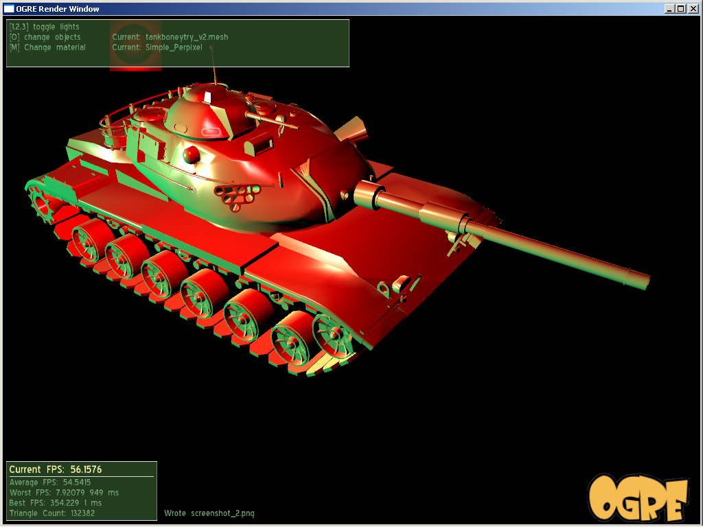 a tank with accurate perpixel lighting